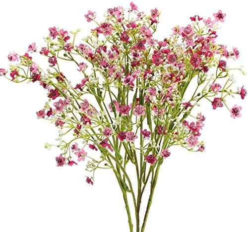 XHXSTORE 4Pcs Artificial Flowers Fake Silk Flowers Fake Gypsophila Plants Faux Flower Bouquet Fake Gypsophila Plants Bouquets Flowers Bush for DIY Craft Home Vase Garden Party Wedding Decoration