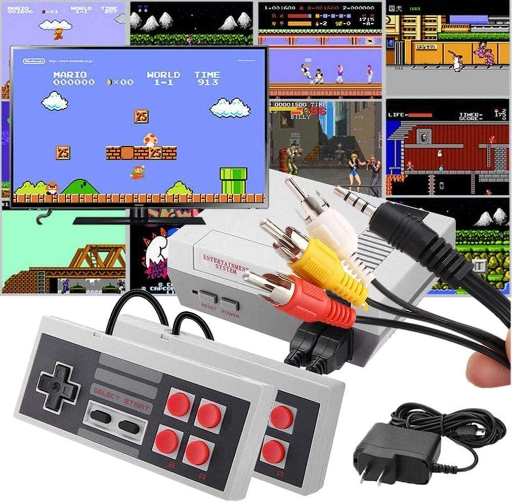 KPSJNES 620 Retro Game Console - AV Output Mini NES Console Built - in Hundreds of Classic Video Games System Super NES Classic Wireless Controller NES Classic Controllers NES Classic Mini Console