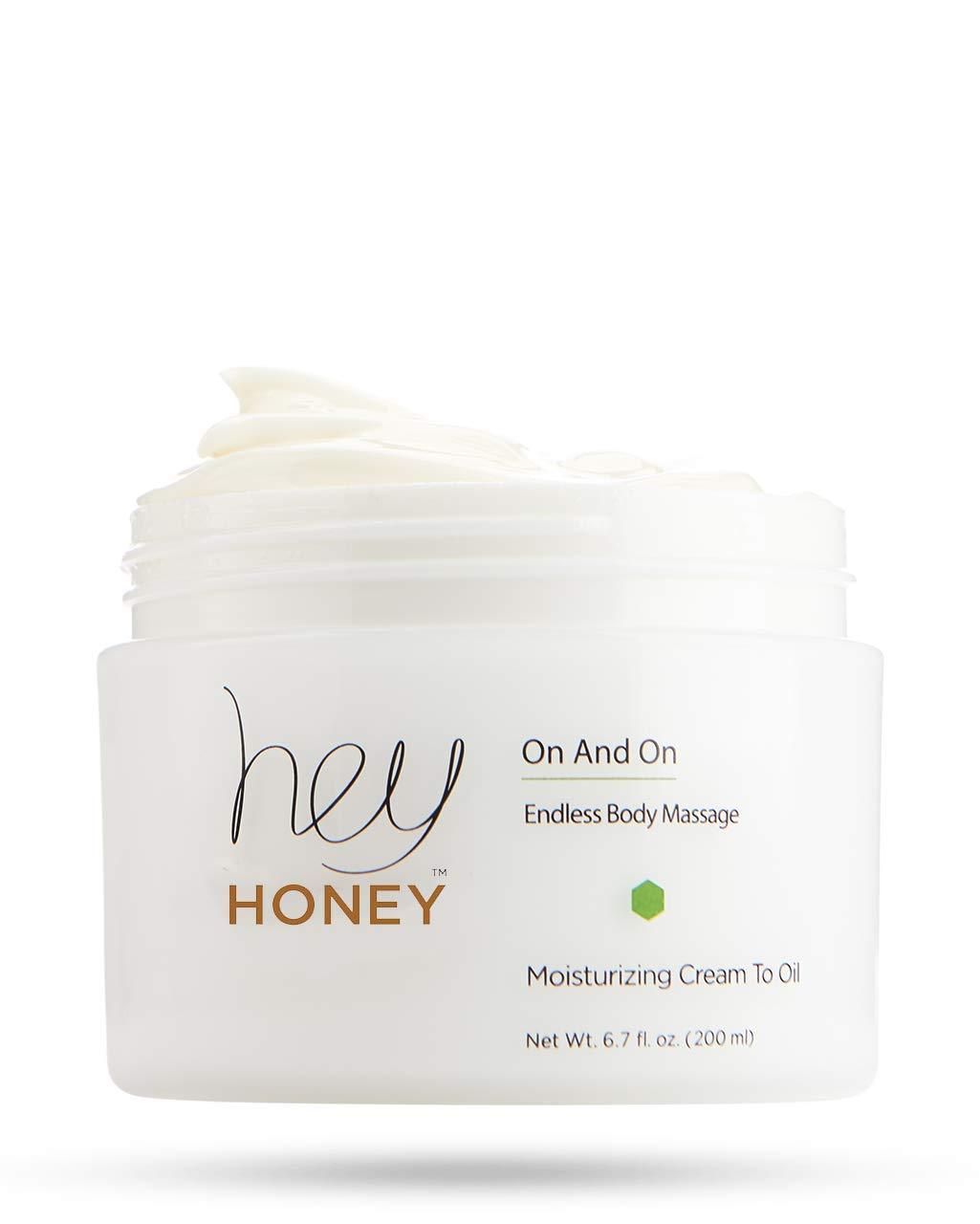 Hey Honey On And On Moisturizing Cream To Oil Body Massage, 6.7 Fl Oz