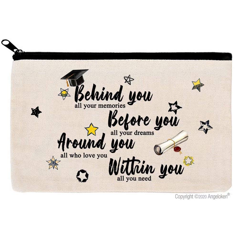 Cosmetic Bags Graduate Makeup Bags Travel Bag Zippered Luggage Pouch Multifunction Make-up Small Bag For Mom Wife Friend Sister Colleague Coworker Women Week Gift