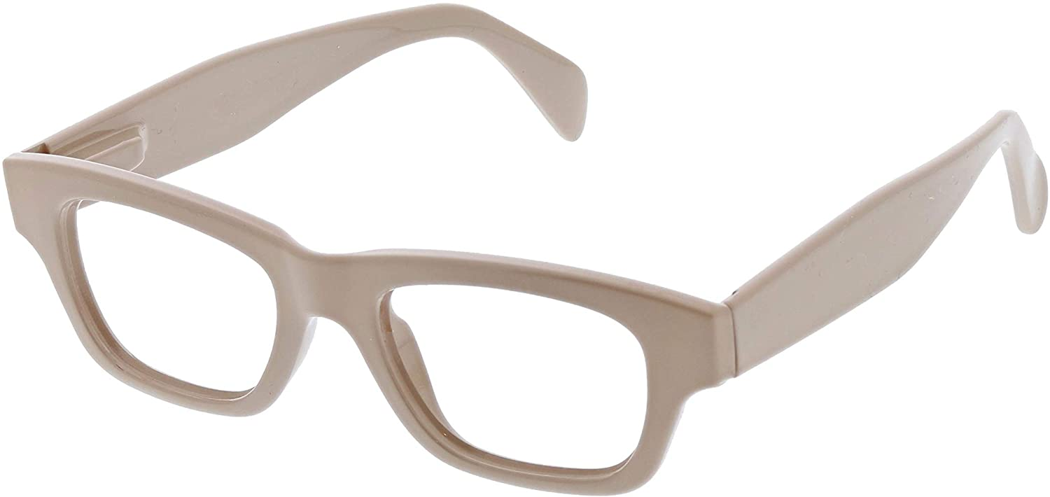 Peepers by PeeperSpecs Women's Scandi Focus Rectangular Blue Light Filtering Reading Glasses, Taupe, 48 mm + 0