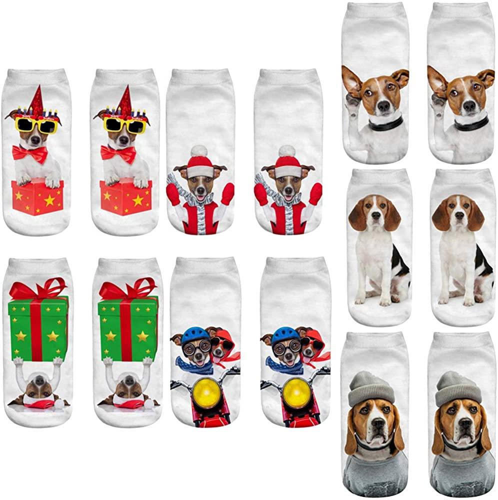 Unisex's Cute Cartoon Pig Ankle Socks Adorable Animal Low Cut Socks