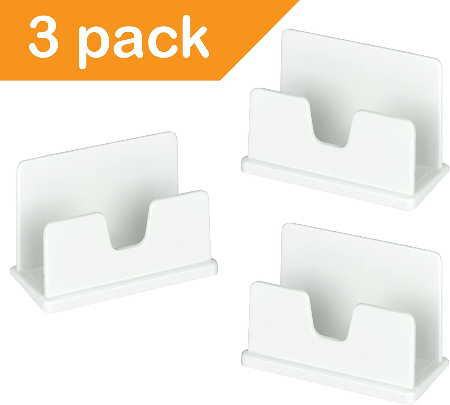 Acrimet Business Card Holder (3 Pack) (White Color)