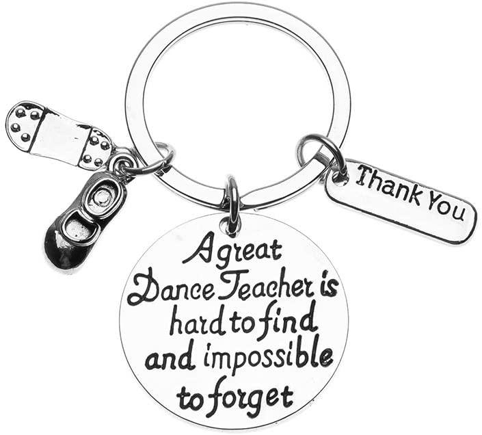 Tap Dance Teacher Gift, Dance Teacher Keychain- Dance Jewelry for Dance Instructors