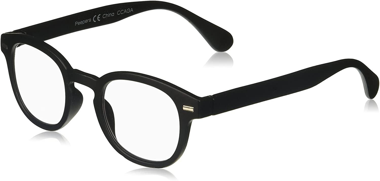Peepers by PeeperSpecs Mens Headliner Focus Round Blue Light Filtering Reading Glasses