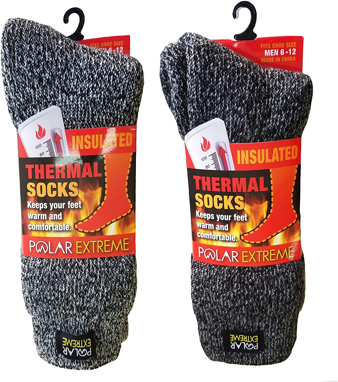 Polar Extreme Men's Thermal Sock Pack of 2