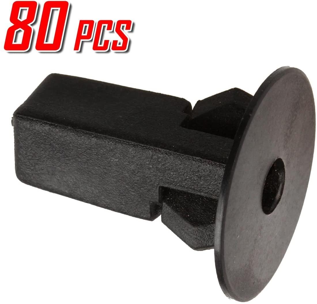PartsSquare 80pcs Fender Liner Screw Grommet Fastener Rivet Push Clips Retainer Replacement for Bumper Stay, Rear Body Side Panel