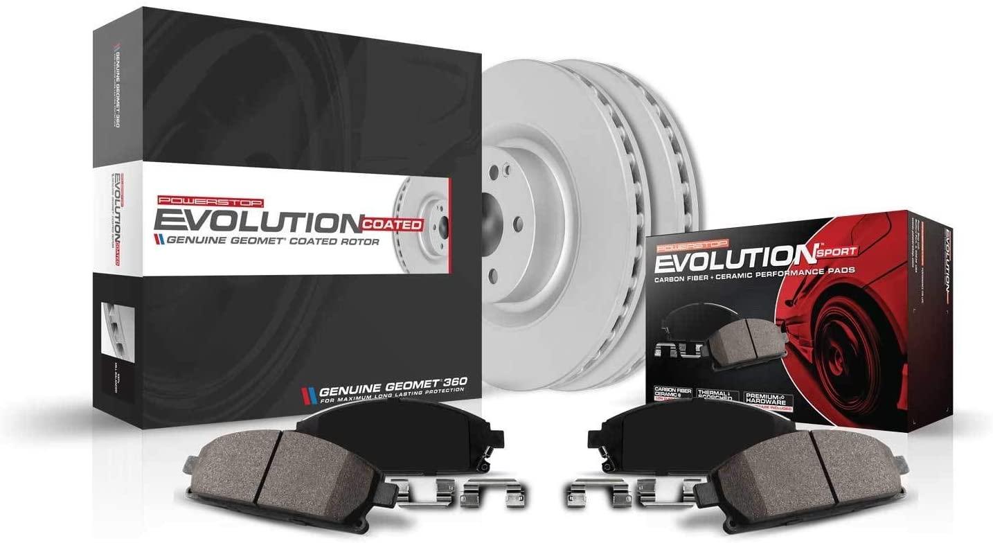 Power Stop CRK948 front Z23 Evolution Geomet Coated Brake Kit