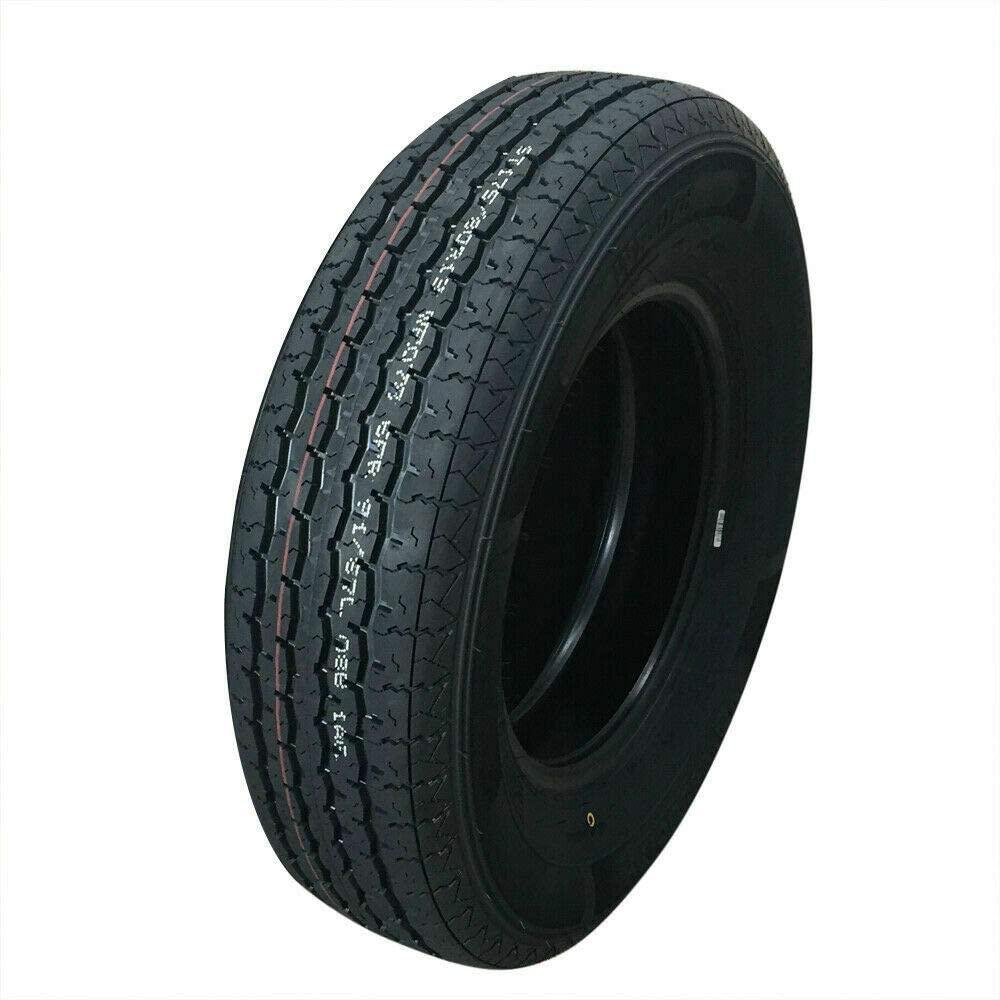 MILLION PARTS 1PCS ST175/80R13-8PR Trailer Tire Tubeless 8Ply WR078 Load Range D 1610/1430Lbs