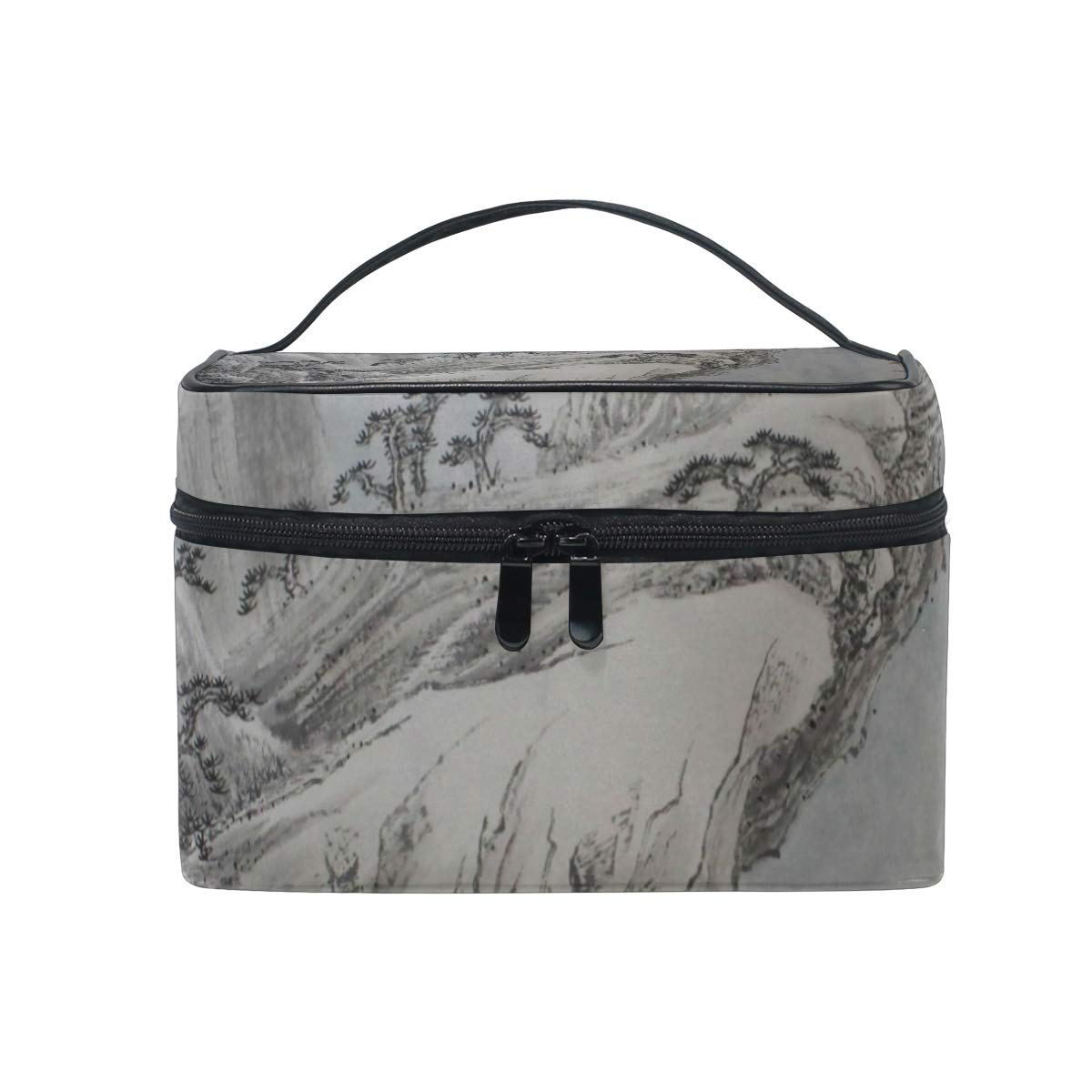 Cliff Scenery Makeup Bag Travel Toiletry BOX Portable Organizer Storage Cosmetic Train Case for Women Girls