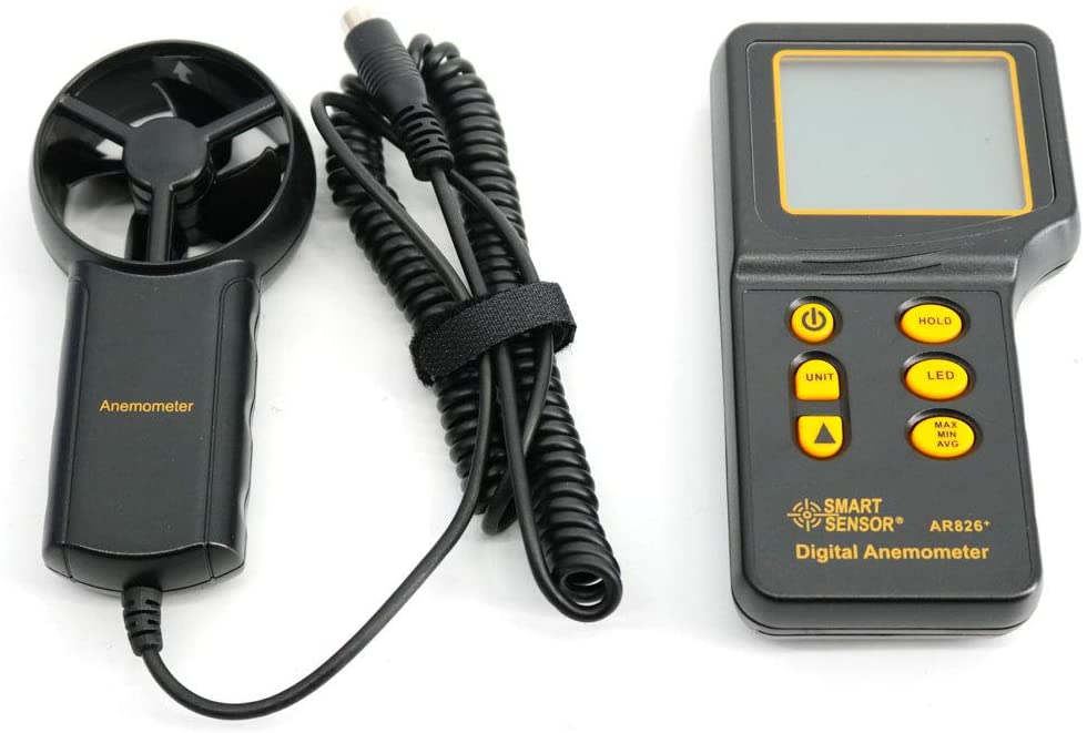 Graigar AR826+ Digital Portable Anemometer Air Volume Meter Anemometer Tester Electronic Wind Speed Meter