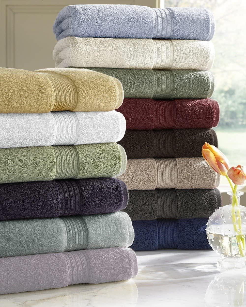 Kassatex Arosa Collection Towels, Bath Towel - Moss