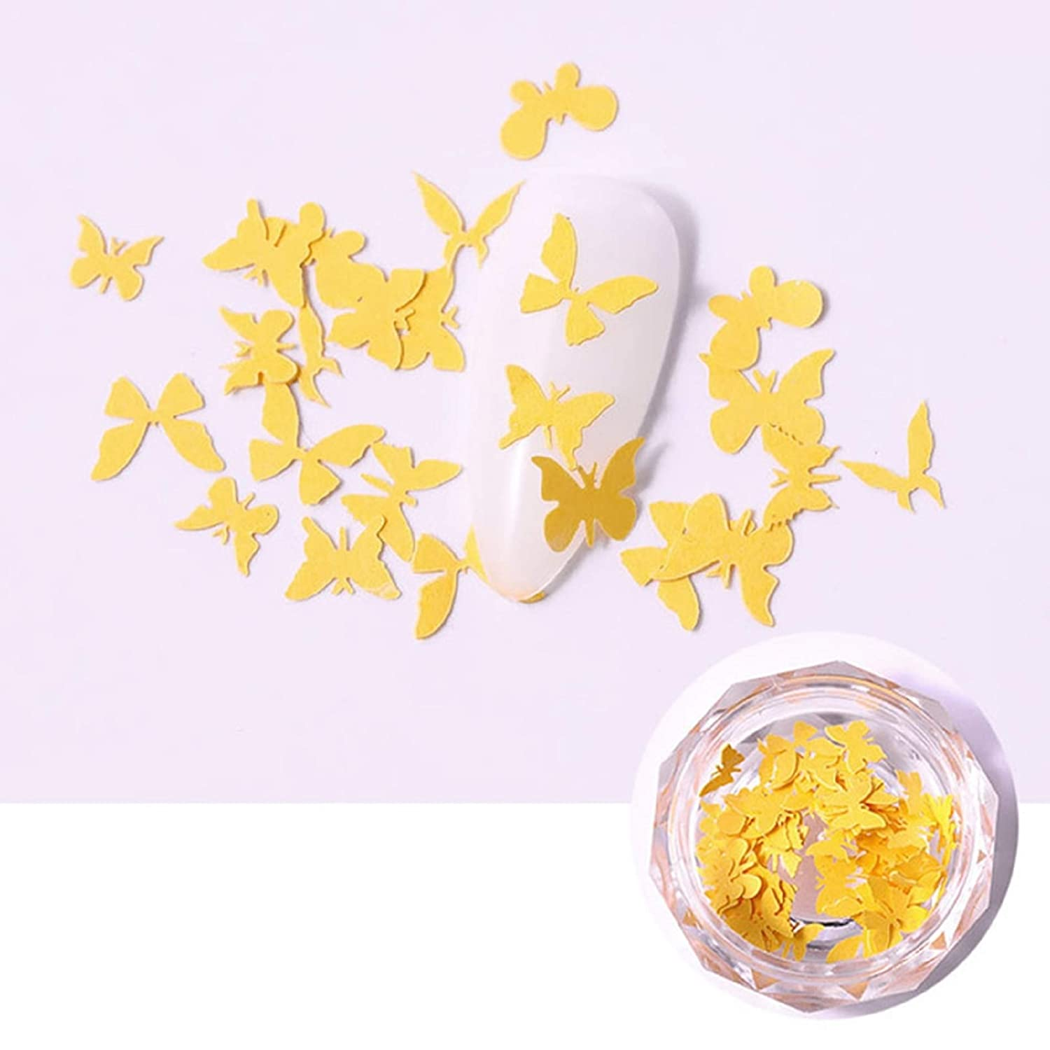 12 Sheets 3D Colorful Butterfly Nail Sticker Nail Art Transfer Decals Decoration Manicure Tools New Designs Nail Sticker (6)