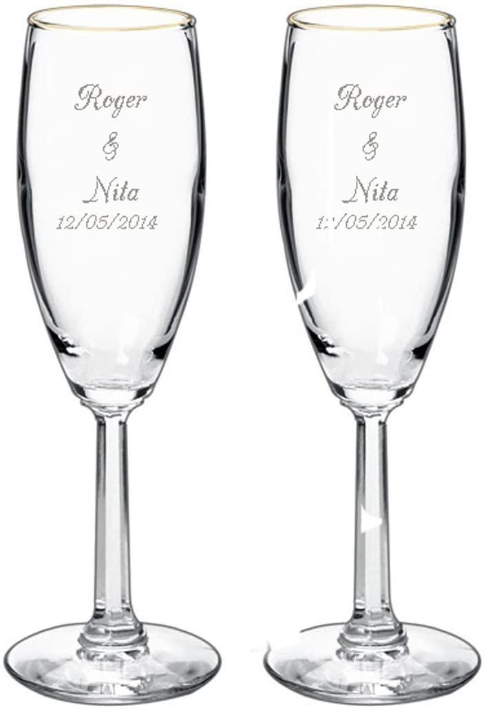 Personalized Toasting Flutes - Set of 2