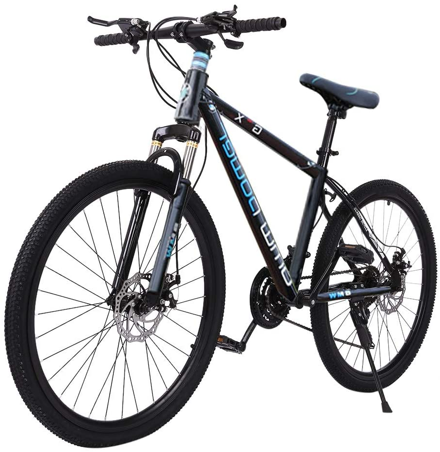 cobcob Adult Road Bike, 26 Inches Adult Outdoor Bikes Heavy-Duty Road Bicycle Racing Mountain Bike Urban Commuter Bicycle 21 Speed Disc Brake Bicycle Men Women Bikes Outdoor Sports