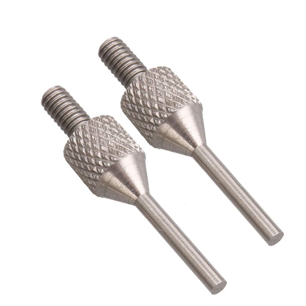 Mxfans 2PCS Carbide Dial Digital Test Indicator Points M 2.5 Thread 10x1.5mm