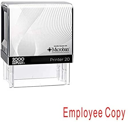 Employee Copy Cosco Printer Office Self Inking Rubber Stamp - Red Ink