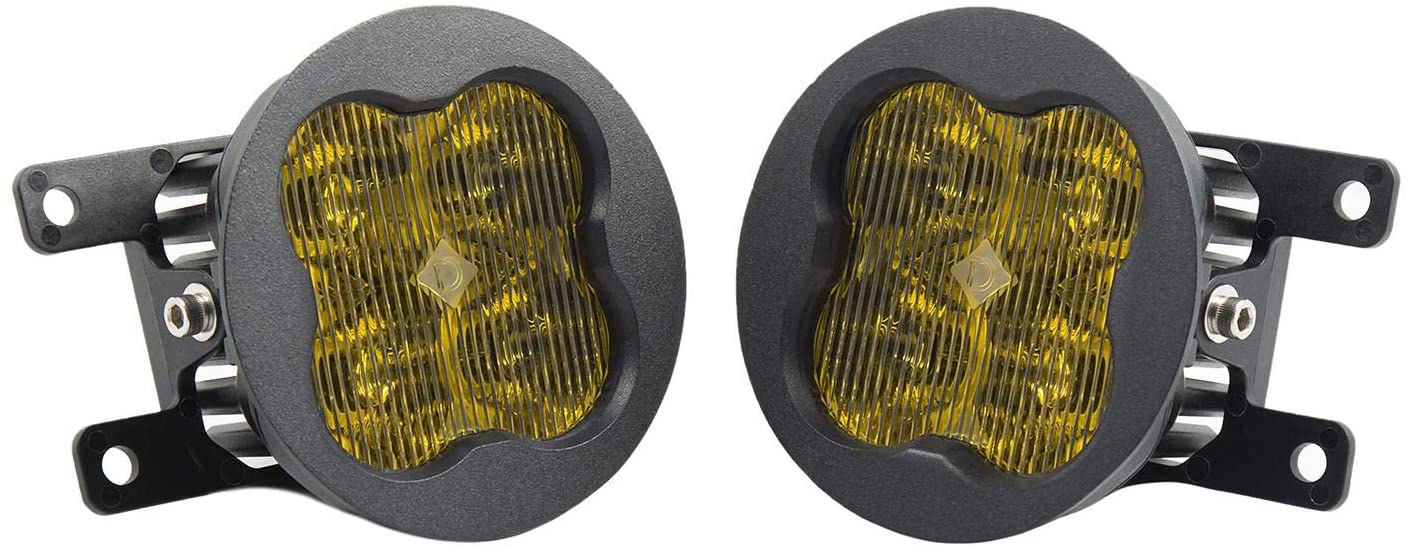 SS3 LED Fog Light Kit for 2013-2016 Ford Fusion, Yellow SAE/DOT Fog Sport by Diode Dynamics