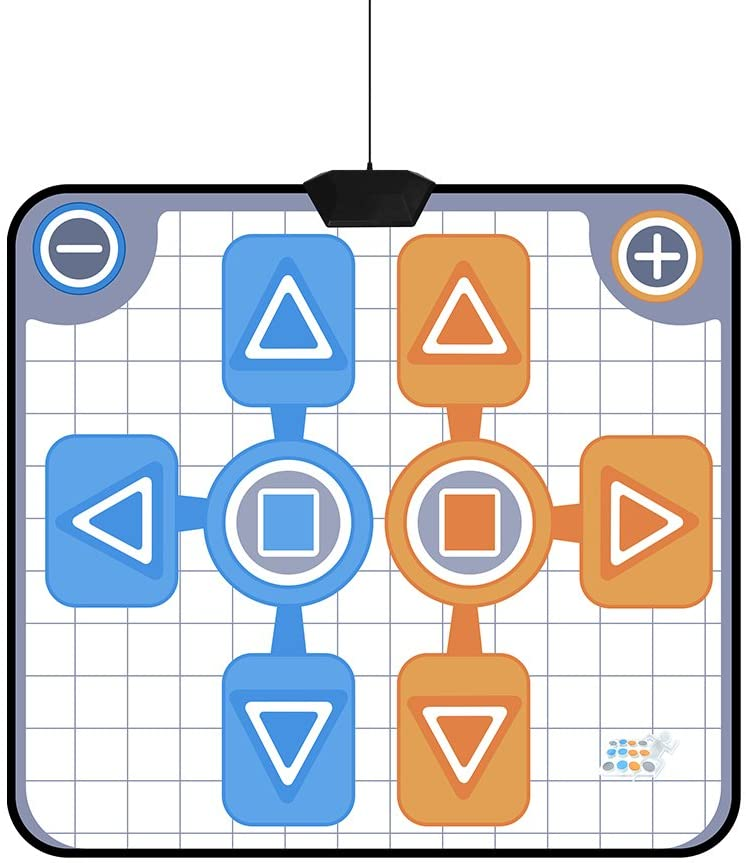 Tmtop Double Person Non-Slip Dance Dancing Pad Mat for Nintendo Wii Console Game
