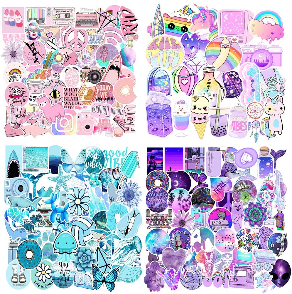 200PCS VSCO Stickers for Water Bottle,Cute Waterproof Stickers for Laptop Suitable for Kids Girls Teens