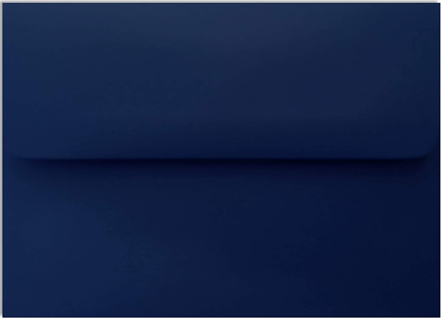 Navy Blue 70lb 1000 Boxed A7 Envelopes 5-1/4 x 7-1/4 for 5 x 7 Weddings Greeting Cards Invitations Announcement Showers from The Envelope Gallery