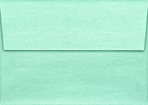 LUXPaper A1 Invitation Envelope in 80 lb Lagoon Metallic for 3 1/2 x 4 7/8 Cards, Printable Envelopes for Invitations, with Peel and Press, 1000 Pack, Envelope Size 3 5/8 x 5 1/8 (Green)