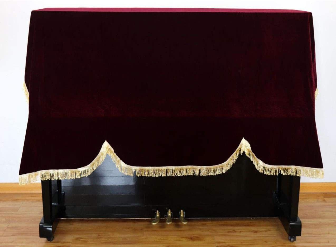 Timiy Upright Vertical Pleuche Piano Cover Red