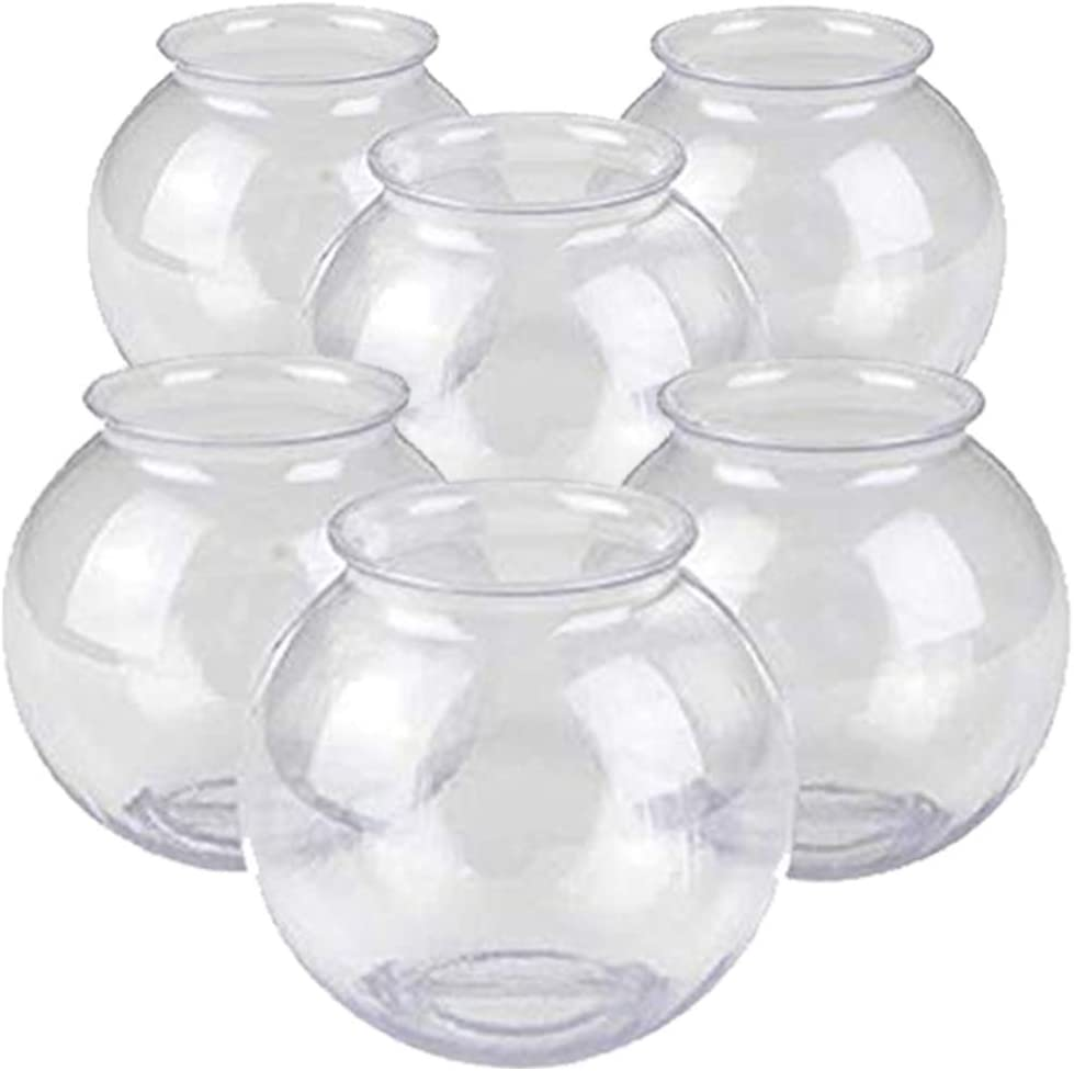 Kicko Plastic Ivy Bowls - 6 Pack of 16 Oz. Tub - Perfect for Home Decor, Centerpiece, Carnival Game Accessory, Ornament Holder, Party Supplies, Sweet Treats