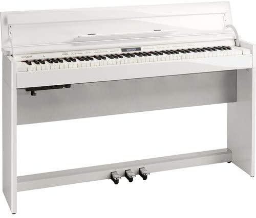 Roland DP-603 88-key Digital Piano with Authentic Grand Piano Touch and Bluetooth, Polished White