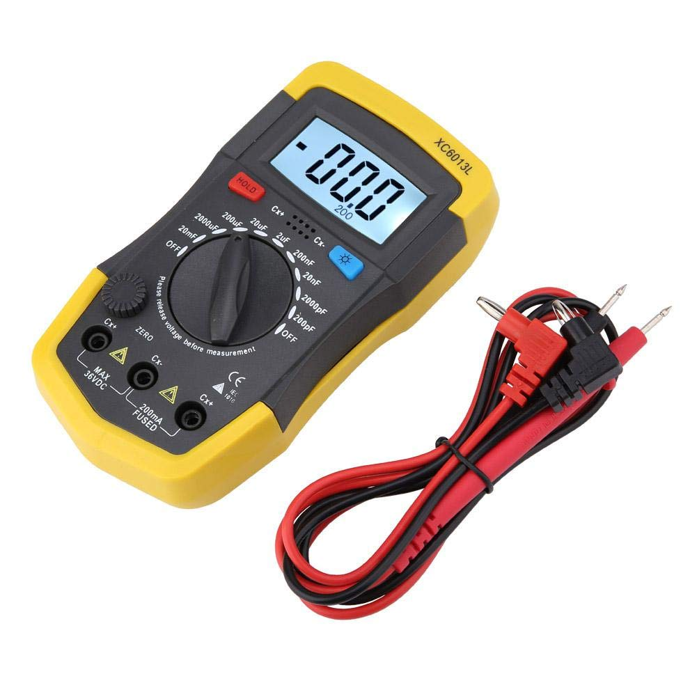 Acogedor Capacitance Meter Tester , LCD Digital Capacitance Meter mF uF Circuit Gauge, Capacitor Tester Rang from 0.1 pF-20000 uF,1 9V Battery(Not Included)