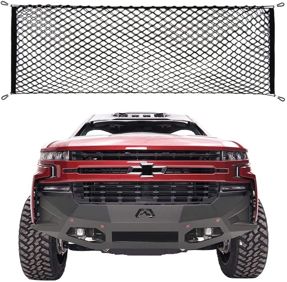 9 MOON Truck Bed Envelope Style Trunk Mesh Cargo Net for Chevrolet Silverado 2013-2020 New
