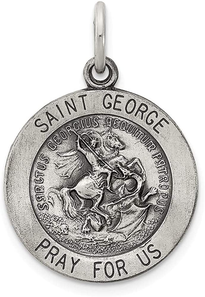 925 Sterling Silver Saint George Medal Pendant Charm Necklace Religious Patron St Fine Jewelry For Women Gifts For Her