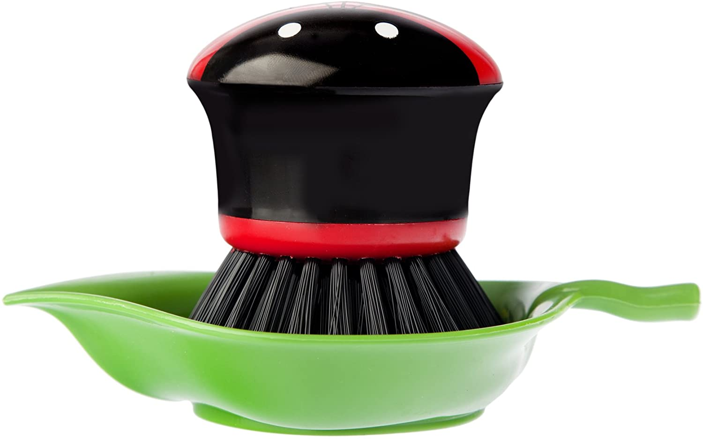 Vigar Ladybug - Ladybug Palm Dish Brush with Holder