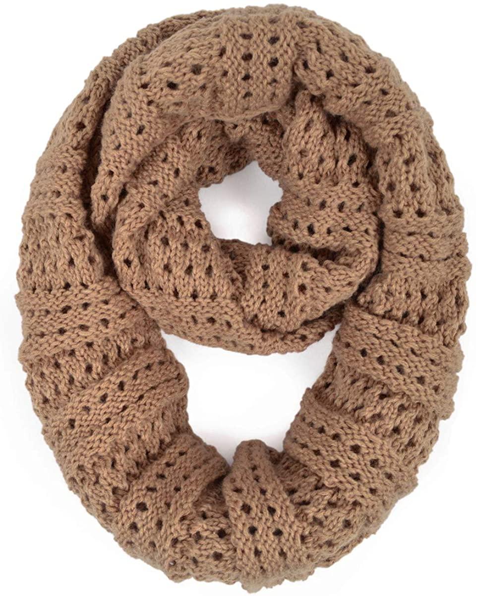 Premium Winter Mesh Knit Infinity Loop Scarf
