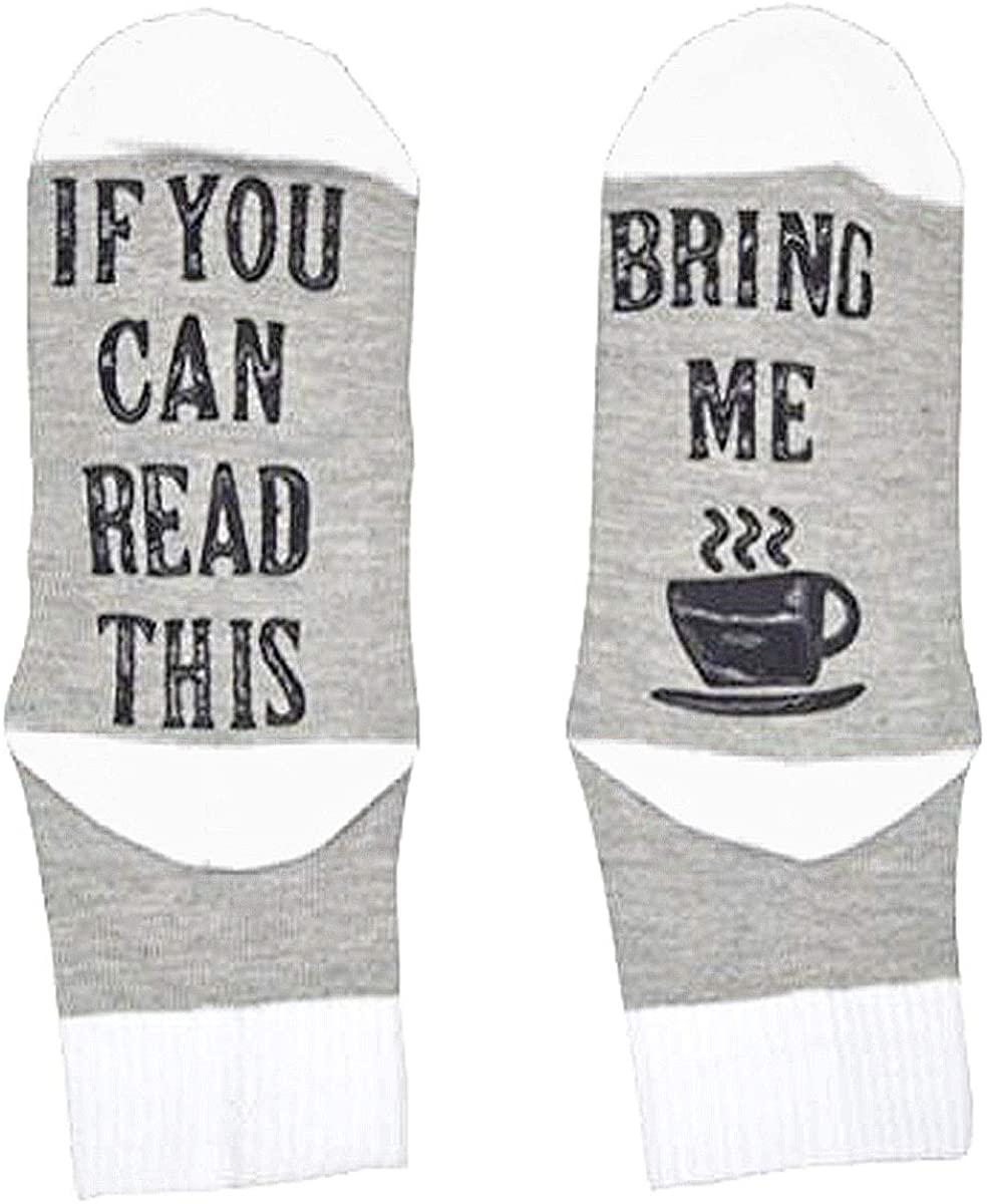 If You Can Read This Novelty Funny Saying Crew Socks Unisex Cotton Hosiery Gag Gift