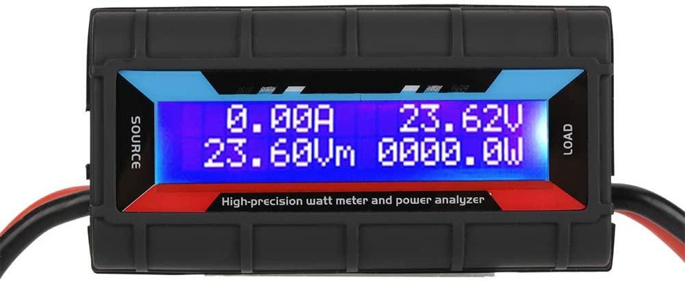 DERCLIVE 4.8V ~ 60V 130A high precision power meter voltmeter power analyzer