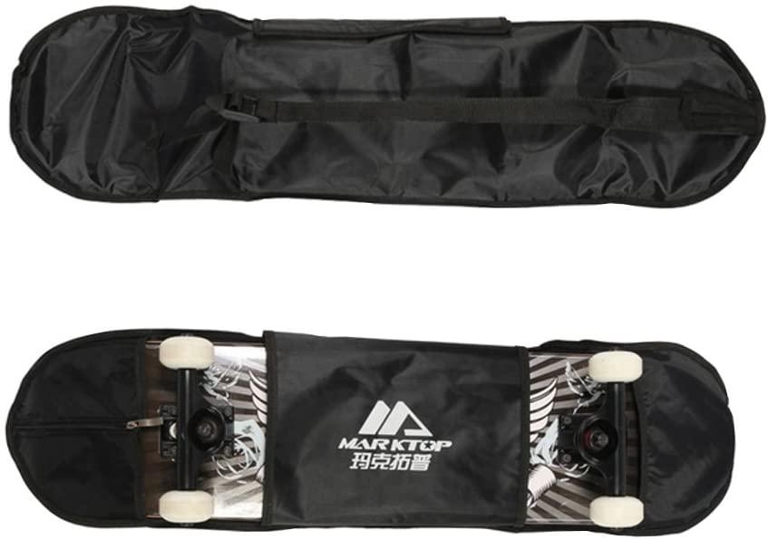 PANDA SUPERSTORE Waterproof Skateboard Bag & Thickening Backpack & Equipment Bag Black