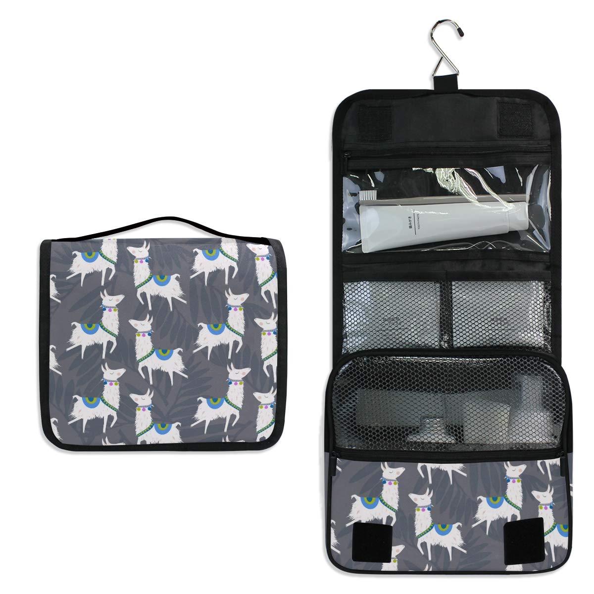Llamas Toiletry Bag Multifunction Cosmetic Bag Portable Makeup Pouch Travel Hanging Organizer Bag for Women Girls