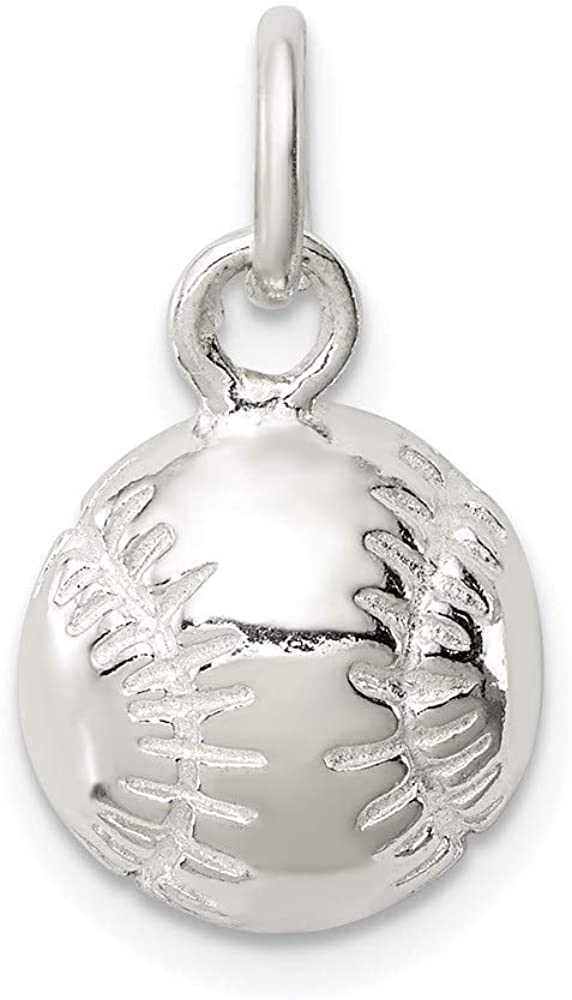 925 Sterling Silver Baseball Pendant Charm Necklace Sport Baseball/softball Fine Jewelry For Women Gifts For Her