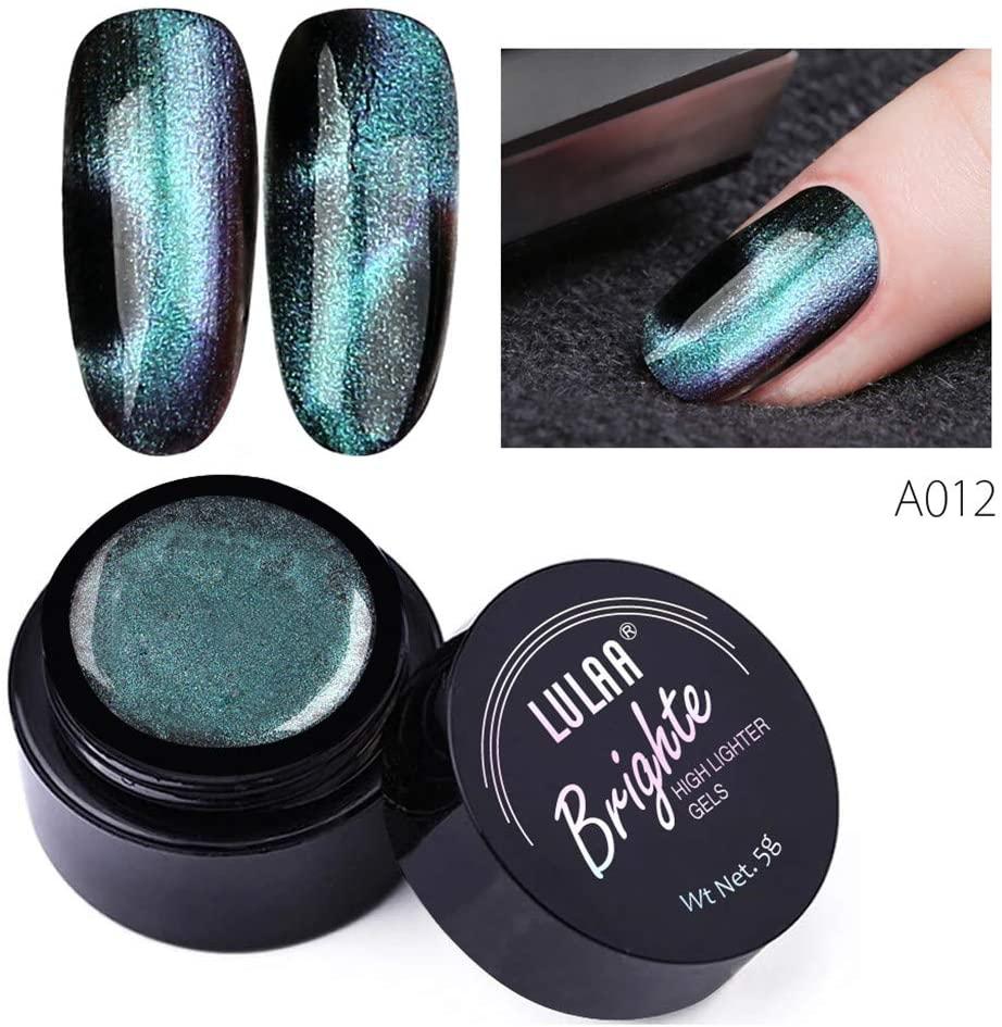 XEDUO 5D Nail Gel Shiny Cat Eye Gel Nail Art UV LED Gel Magic Sky Nail Art UV (L)
