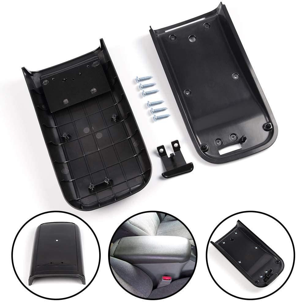 G-PLUS Center Console Lid Armrest Cover for Chevrolet Trailblazer for GMC Envoy Black 2002 2003 2004 2005 2006 2007 2008 2009
