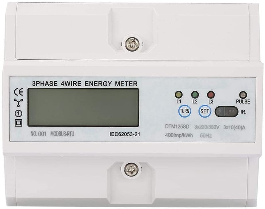 Beennex 220/380V 10-40A Energy Consumption Digital Electric Power Meter 3 Phase KWh Meter with LCD
