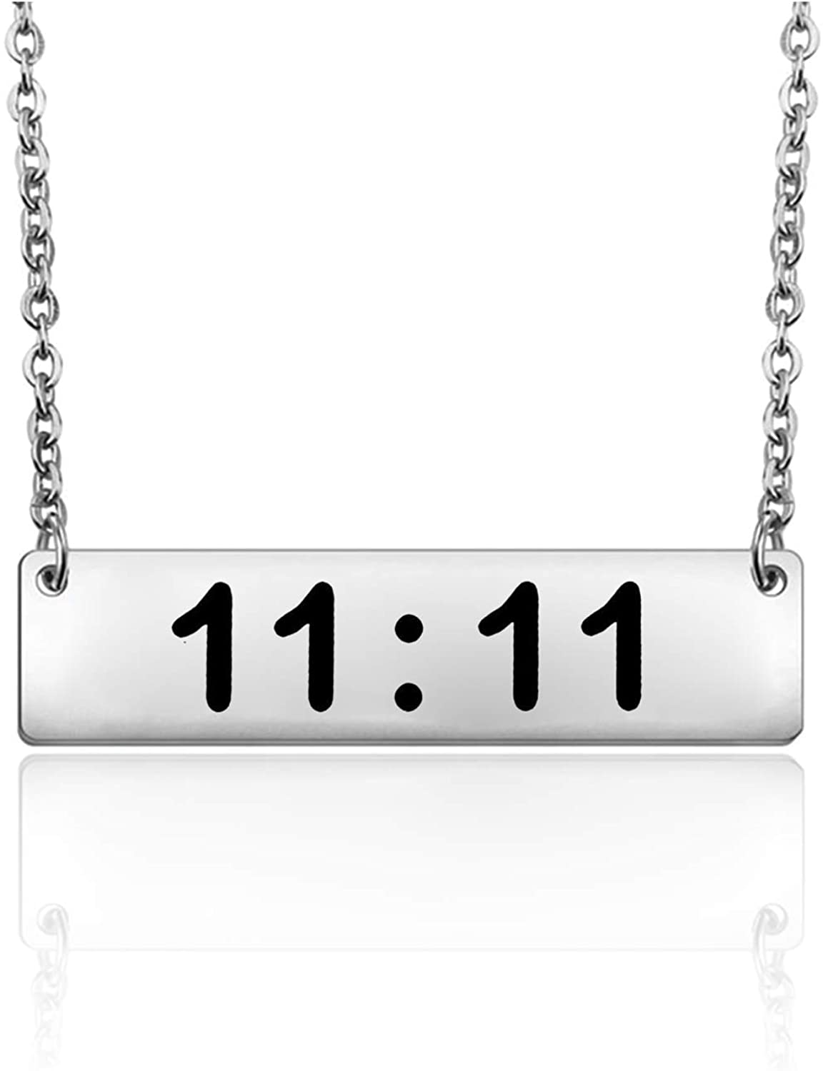 BNQL Make A Wish 11:11 Necklace Spiritual Jewelry Wishing Necklace for Women