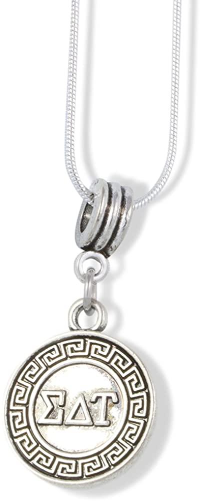 EPJ Sigma Delta Tau Necklace | Sorority Charm Snake Chain Pendant