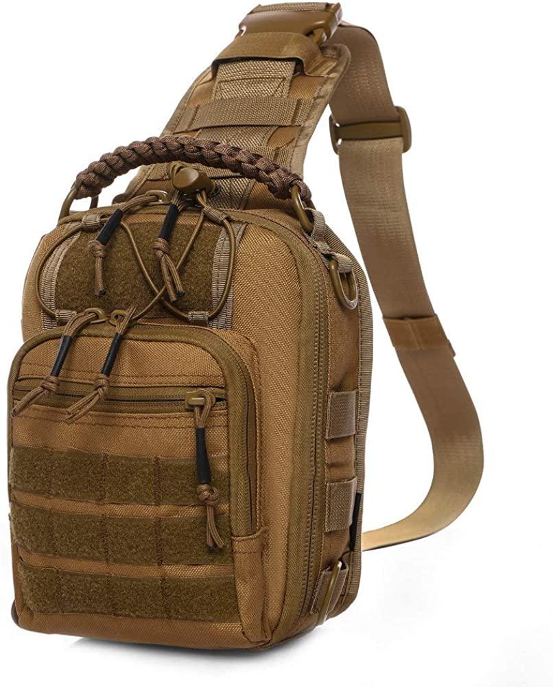 ANTARCTICA Tactical Sling Bag Pack Military Rover Shoulder Bag Molle Assault Range Bag Backpack 1050D