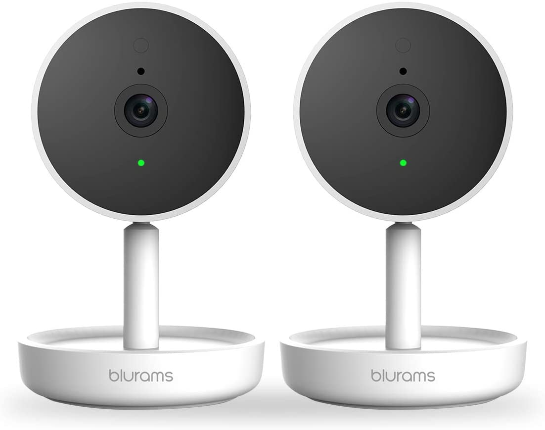 blurams 2pc Home Pro, Security Camera 1080p FHD   w/Facia Recognition, 2-Way Talk, Human/Sound Detect, Person Alert, Night Vision and Siren   Cloud/Local Storage Available, Compatible with Alexa