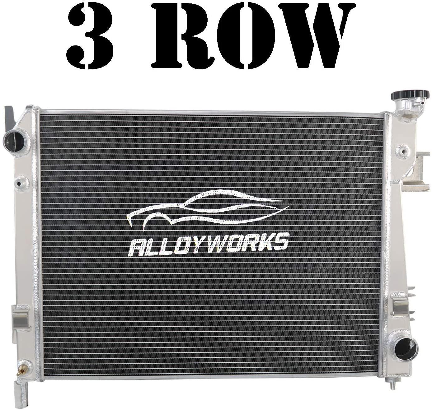 ALLOYWORKS 3 Row All Aluminum Radiator For 2003-2009 Dodge Ram 1500 2500 3500 L6 V6 V8 V10 3.4L 3.7L 3.8L 3.9L 4.7L 5.7L 5.9L 8.0L 8.3L