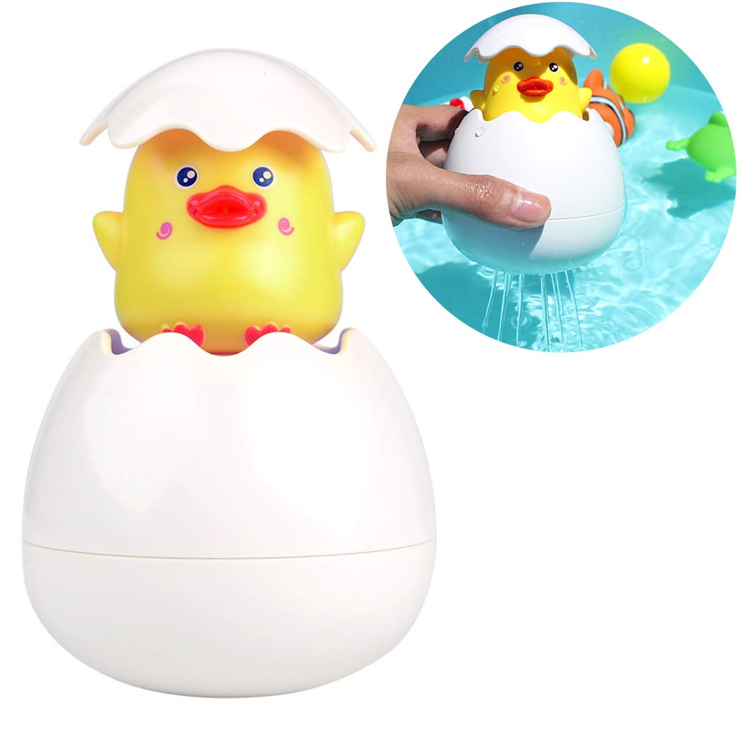 Baby Bath Toys for Toddlers,Aniwon Watering Ducklings Hatching Sprinkling Penguin Egg Rain Cloud Squirt Egg Bathtub Water Toys with Hidden Duck Penguin Pool Floating Toys for Boys Girls Kids