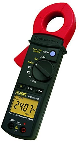 565 CAL D - Clamp Meter, Calibrated w/Data, True RMS, 100 A AC, 600 V AC, 600 V DC, 28 mm Jaw Opening Max. (565 CAL D)