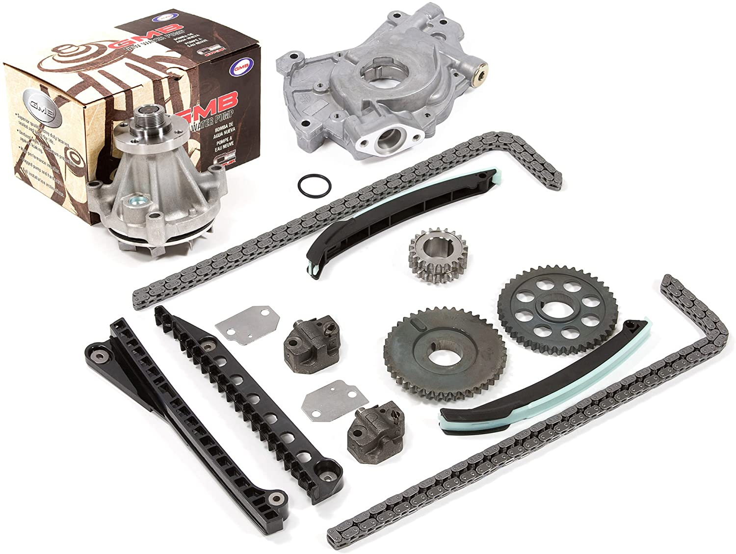 Compatible With 2002 Ford 5.4 SOHC 16V VIN L, M, Z Timing Chain Kit Oil Pump GMB Water Pump